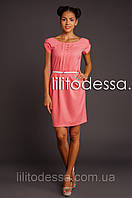 Платье с полуоткрытой спинкой персиковый, фото 1