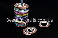 """Лента для дизайна ногтей """" Сахарная нить """", 0,1 мм, цвета в ассортименте, фото 1"""