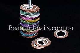 """Лента для дизайна ногтей """" Сахарная нить """", 0,1 мм, цвета в ассортименте"""