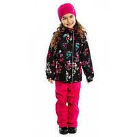 Демисезонный комплект для девочки NANO от 1 до 10 лет (куртка и брюки), р. 74-142 ТМ Nanö Black / Flower 272 M S17