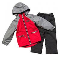 Демисезонный комплект для мальчика NANO от 1 до 10 лет (куртка и брюки), р. 80-140 ТМ Nanö Chili / Deep Grey 271 M S17