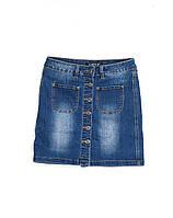 Юбка джинсовая на пуговицах 0892 (25-30, 6 ед.) Lady N