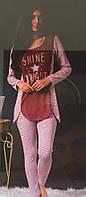 Красивый комплект штаны+кофта для дома