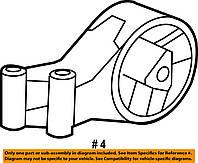 Опора (подушка, демпфер, кронштейн, подвеска, крепление) двигателя задняя GM 0684619 13228303 13346302 OPEL In