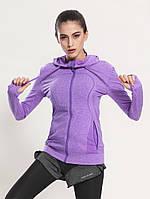 Женские спортивные кофты для спорта, кофта для бега, одежда, кофточка Фиолет