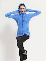 Женские спортивные кофты для спорта, кофта для бега, одежда, кофточка Синий