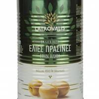Зелёные оливки Latrovalis с косточкой