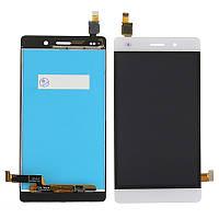 Дисплей (экран) для Huawei P8 Lite Хуавей (ALE L21 L20 L22) + тачскрин, цвет белый