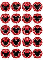 Печать съедобных картинок для капкейков - Ø5 см - Вафельная бумага - Микки Маус и его Друзья №1