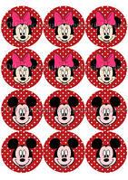 Печать съедобных картинок для капкейков - Ø7 см - Вафельная бумага - Микки Маус и его Друзья №3