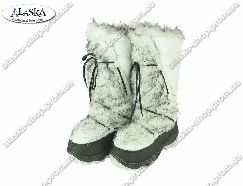 Женские сапоги белые (Код: ЖББ-62)