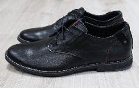 Туфли Hilfiger мужские кожаные на шнурках черные
