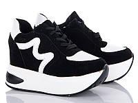 Модные демисезонные женские ботинки - сникерсы от производителя Cinar 6005-2 (6 пар, 37-39)
