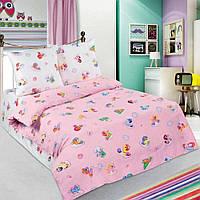 Постельное белье в кроватку поплин Бусинка розовый