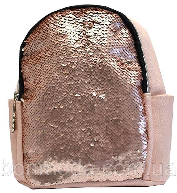 2ae202550850 Рюкзак женский с пайетками, городской стиль, розовый: продажа, цена ...