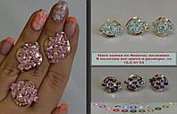 Набор серебряных украшений с фианитами - Лидия