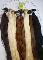 Славянские волосы русые на кератиновой капсуле