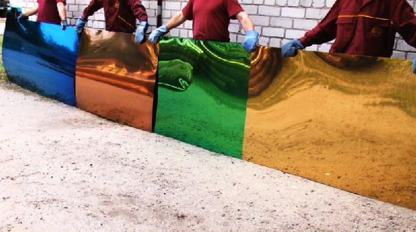 Ассортимент листовой нержавеющей стали с напылением нитрид титана