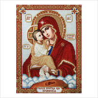 """Схема для вышивки бисером иконы """"Богородица Почаевская"""""""