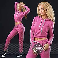 Розовый женский спортивный костюм, норма - 16648