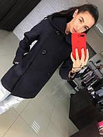 Женское качественное прямое кашемировое пальто с карюшоном и поясом (4 цвета)