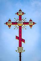 Крест с напылением нитрид титана и LED-подсветкой