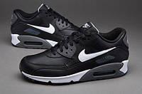 Кроссовки мужские Nike Air Max 90 Premium Leather оригинал | Найк Аир Макс 90 премиум мужские кожаные черные, фото 1