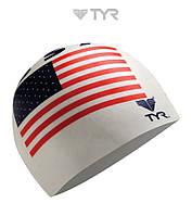 Силиконовая шапочка для плавания TYR Flag USA
