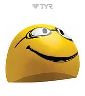Силиконовая шапочка для плавания TYR Mr Smiley, фото 1