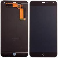 Дисплей (экран) для Meizu M1 Note мейзу + тачскрин, цвет черный
