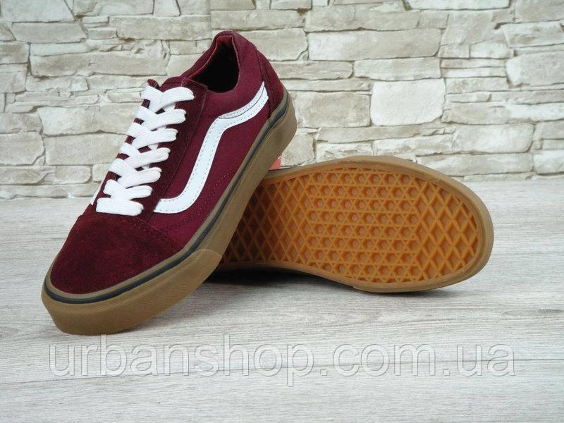 ... Спортивная обувь для мужчин Львов. Кеди Vans Old Skool Maroon Gum bdfe8edb52020