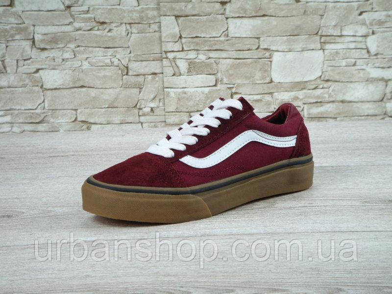 Кеди Vans Old Skool Maroon Gum  975 грн. - Спортивная обувь для ... 78bc35961f575