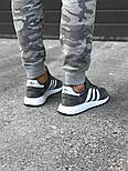 Кроссовки Adidas Iniki Runner grey. Живое фото. Топ качество! (Реплика ААА+), фото 3