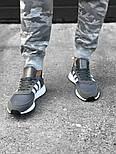 Кроссовки Adidas Iniki Runner grey. Живое фото. Топ качество! (Реплика ААА+), фото 4