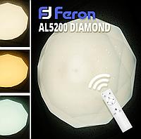 Светодиодная люстра Feron AL5200 DIAMOND 60W (с пультом)