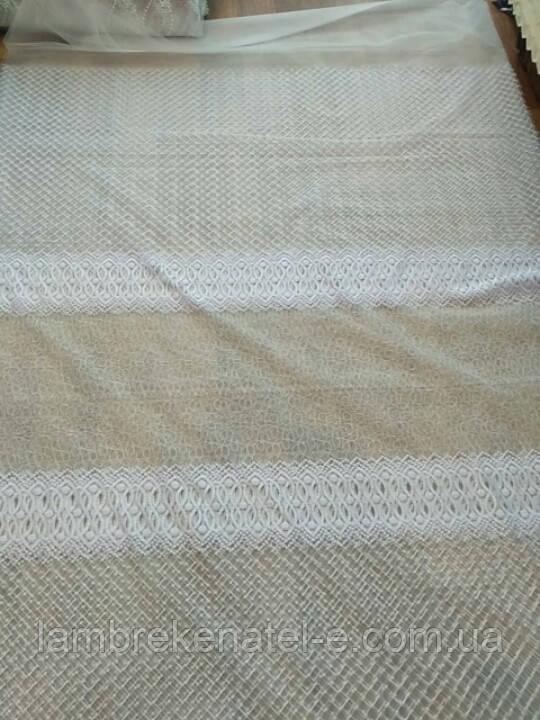 Тюль фатин вышивка абстракция