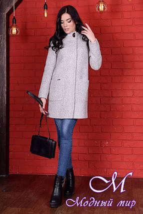 Женское демисезонное стильное пальто  (р. S, M, L) арт. Кемби крупное букле 9193, фото 2