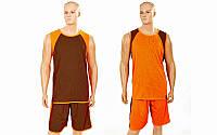 Форма баскетбольная мужская двусторонняя однослойная Unite LD-8802-3 (полиэстер, р-р L-5XL, оранжевый)