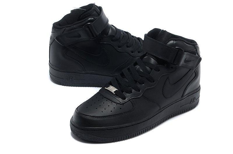 Кроссовки мужские Nike Air Force High Black оригинал | Найк Аир Форс мужские черные
