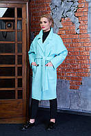 Женское демисезонное пальто 614 (светло-голубой)