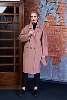 Женское демисезонное пальто 614 (светло-коричневый)