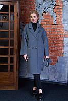 Женское демисезонное пальто 614 (серый)