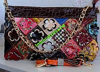 Красивая разноцветная сумка-клатч.