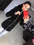 Женское качественное кашемировое пальто на молнии (5 цветов), фото 5
