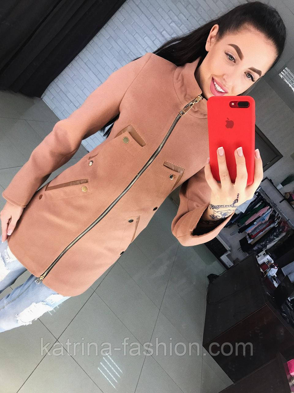 Женское качественное кашемировое пальто на молнии (5 цветов)