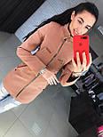 Женское качественное кашемировое пальто на молнии (5 цветов), фото 6