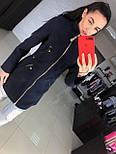 Женское качественное кашемировое пальто на молнии (5 цветов), фото 2