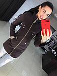 Женское качественное кашемировое пальто на молнии (5 цветов), фото 10