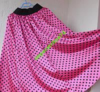 Модная макси юбка в горошек.
