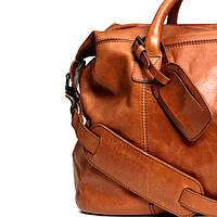 Мужская кожаная дорожная сумка H&M